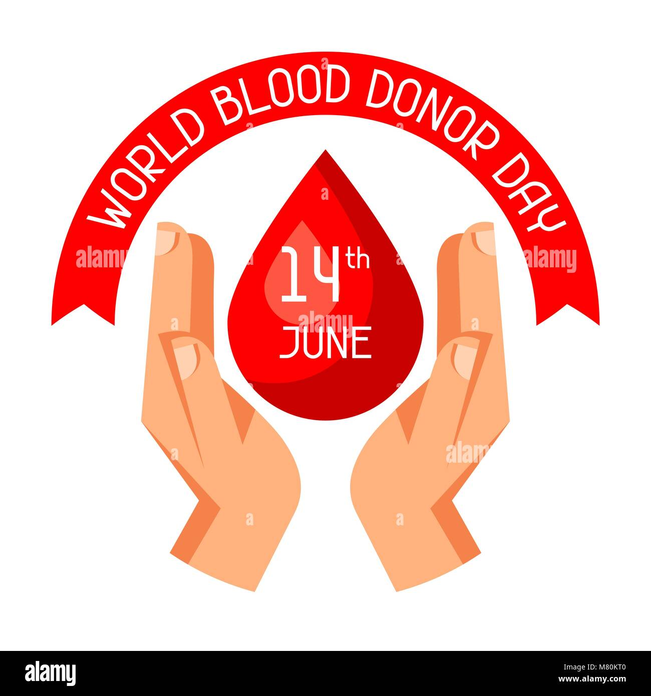 14t June world blood donor day. Medical and healthcare concept - Stock Image