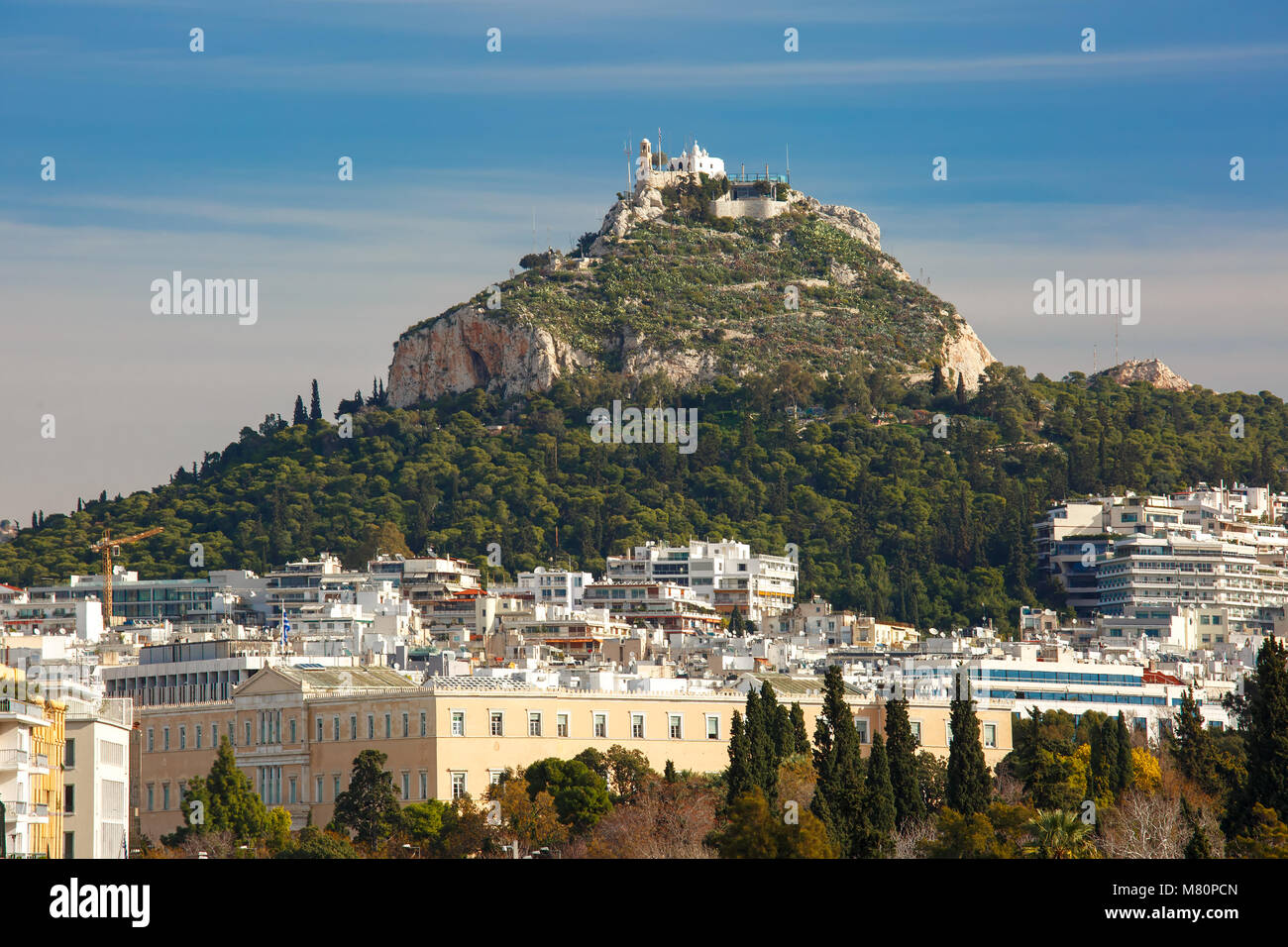 Aerial city view in Athens, Greece Stock Photo