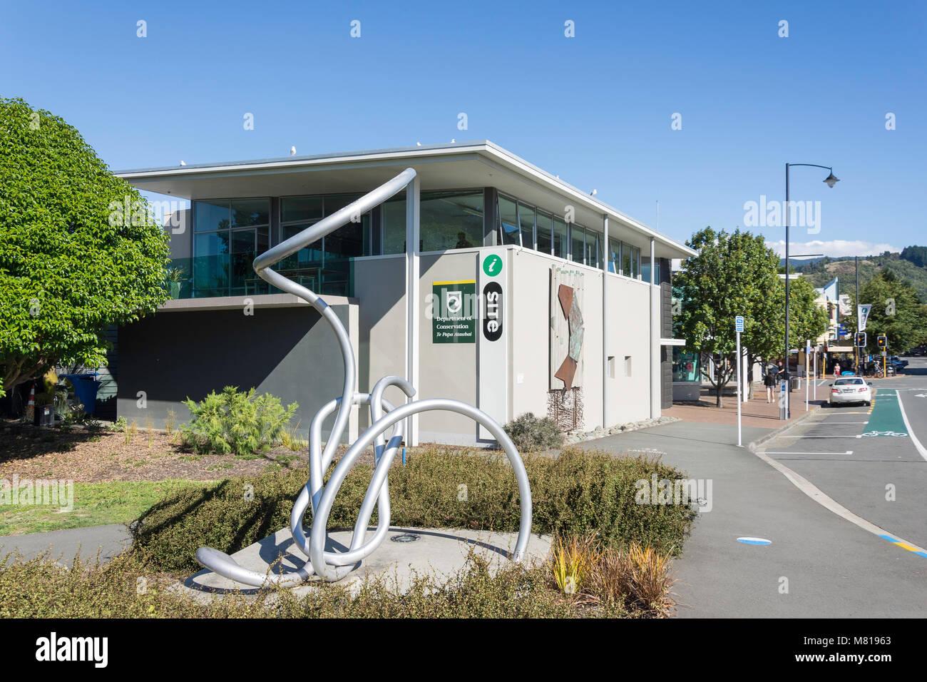 Nelson i-SITE Visitor Information Centre, Trafalgar Street, Nelson City, Nelson Region, New Zealand - Stock Image