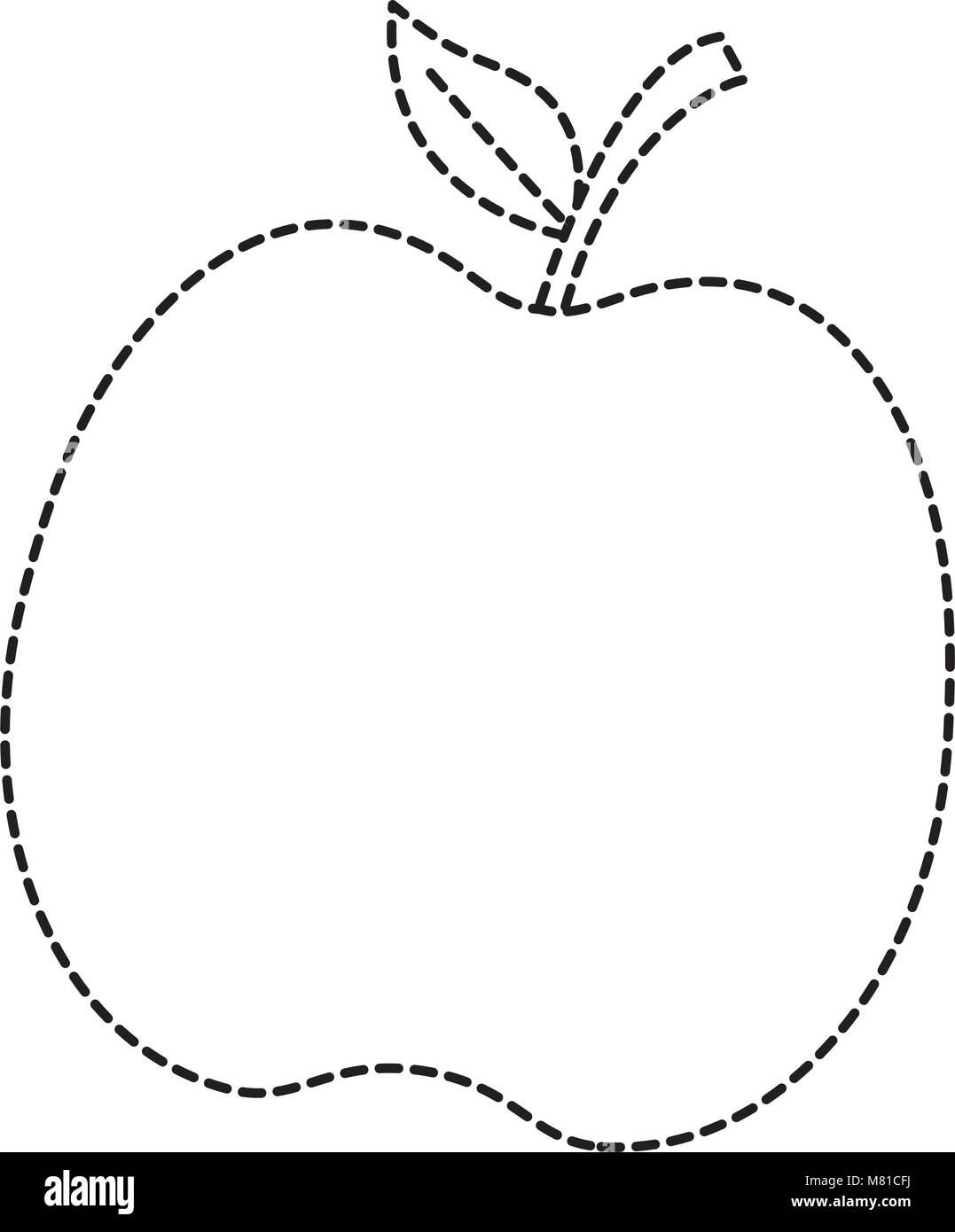 apple fruit icon over white background, vector illustration - Stock Image