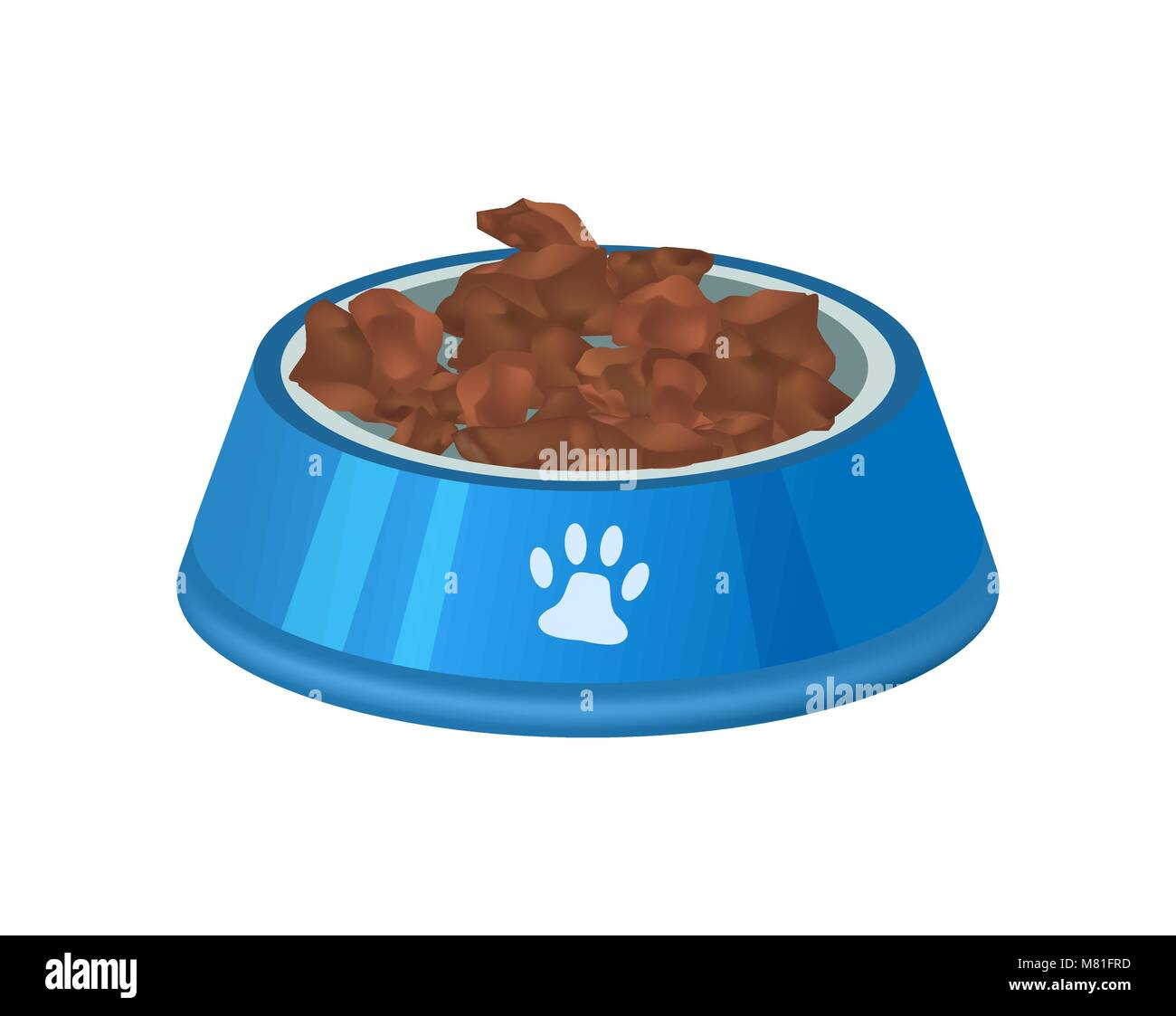 Pet preserved food in bowl isolated icon - Stock Vector