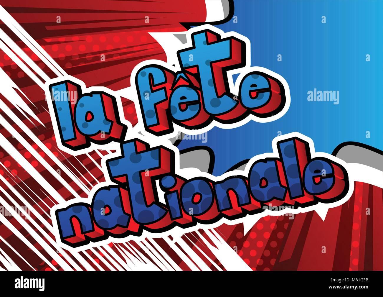 Vector illustrated banner greeting card or poster for bastille day vector illustrated banner greeting card or poster for bastille day in french fete nationale bastille day m4hsunfo