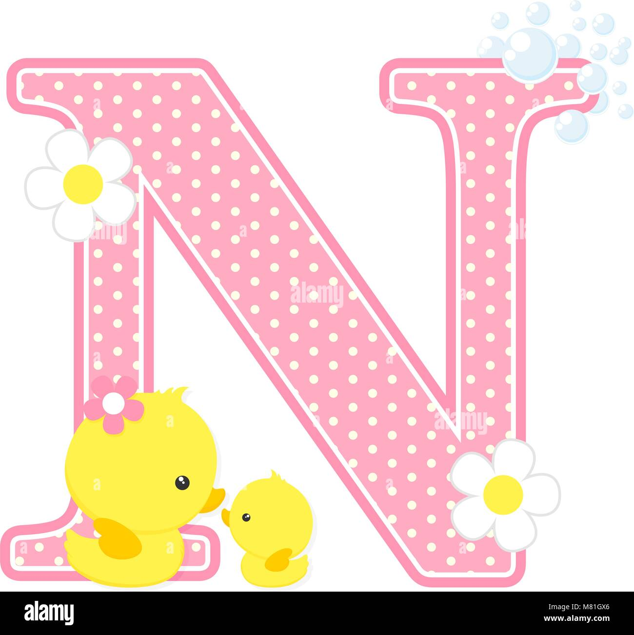 Cartoon Letter N Stock Vector Images - Alamy