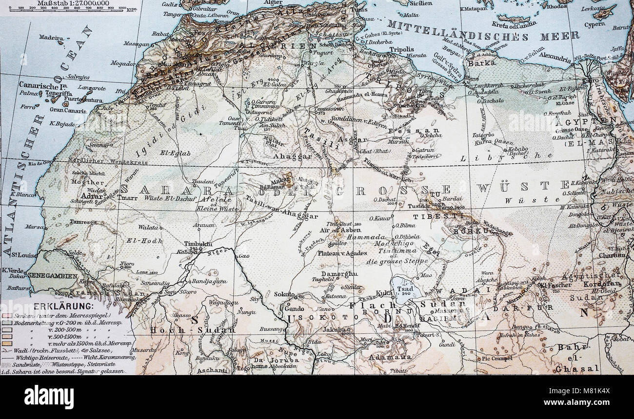 Map from the year 1892 the sahara desert africa digital improved map from the year 1892 the sahara desert africa digital improved reproduction of an original print from the year 1895 gumiabroncs Gallery