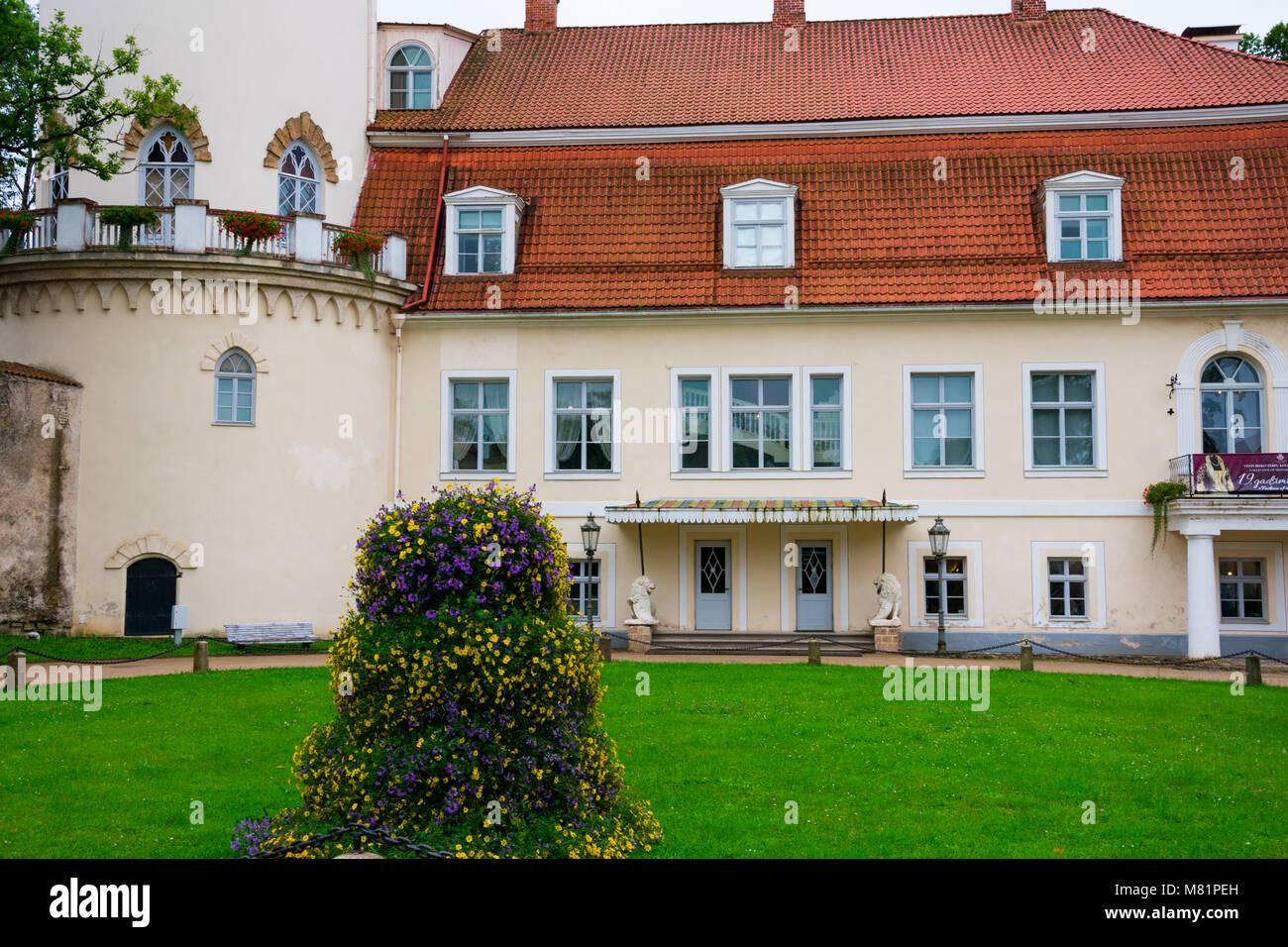 Cesis, Latvia. August 24, 2017. Restored New Castle - Stock Image