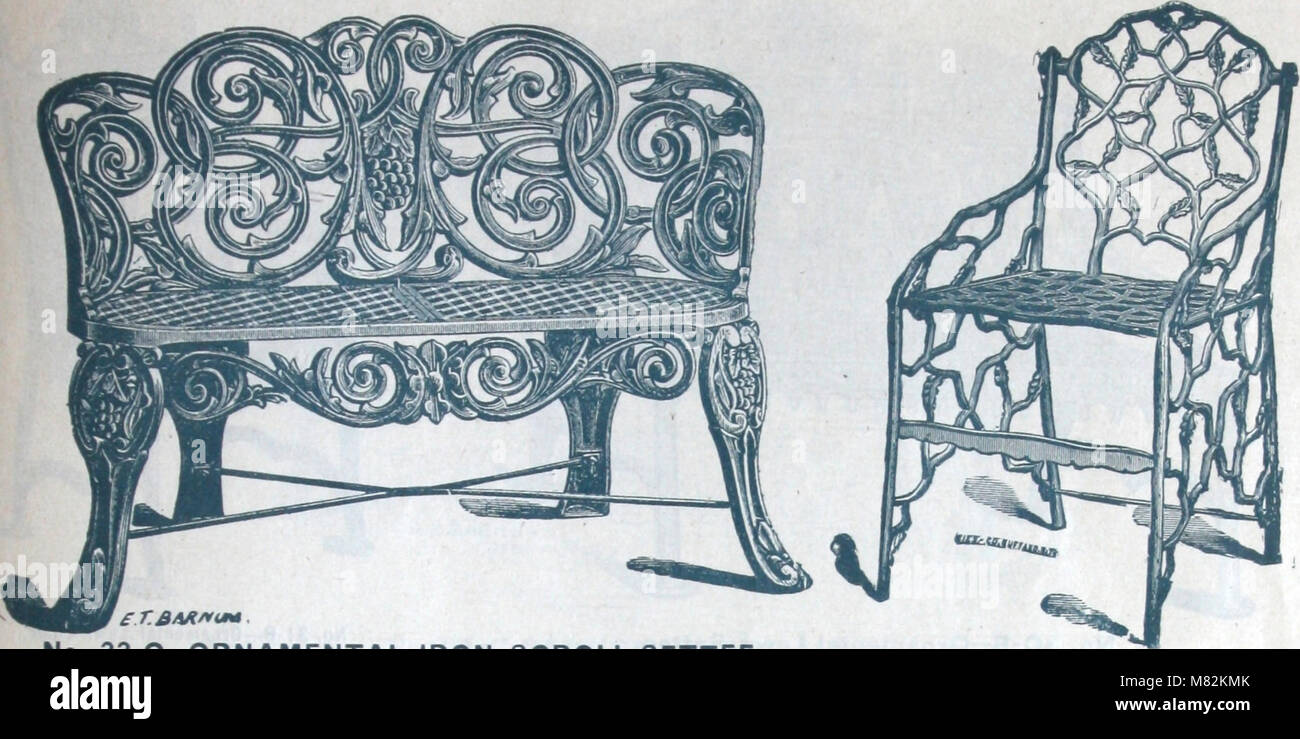 Catalogue of vases, settees, fountains and other lawn furniture (1904) (14589617398) - Stock Image