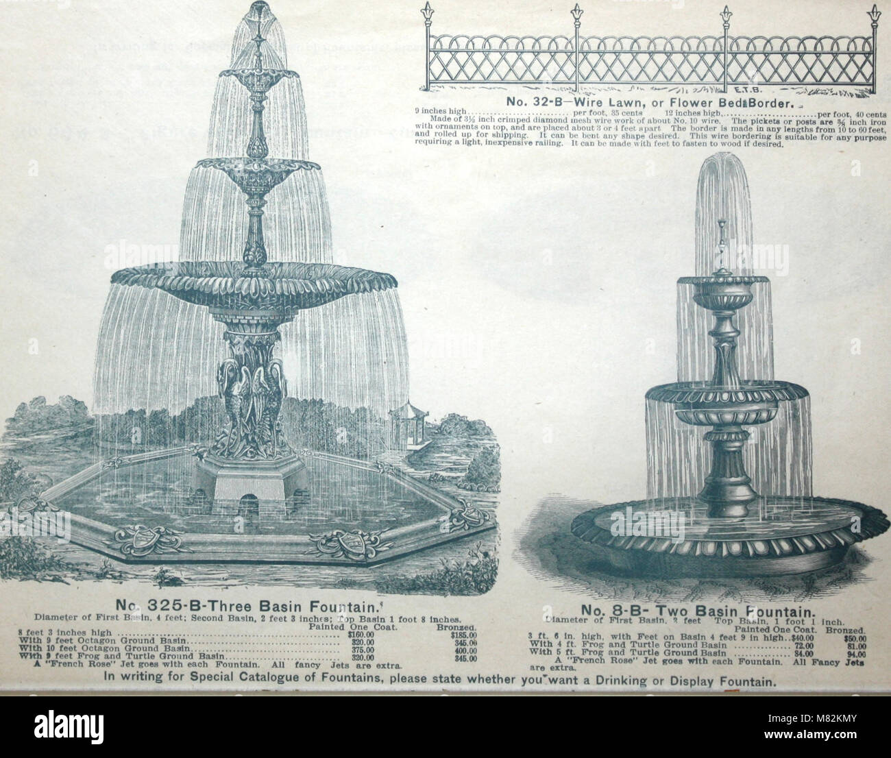Catalogue of vases, settees, fountains and other lawn furniture (1904) (14589804137) - Stock Image
