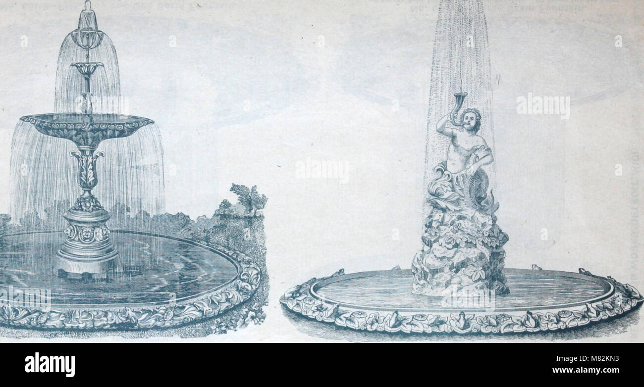 Catalogue of vases, settees, fountains and other lawn furniture (1904) (14773123051) - Stock Image
