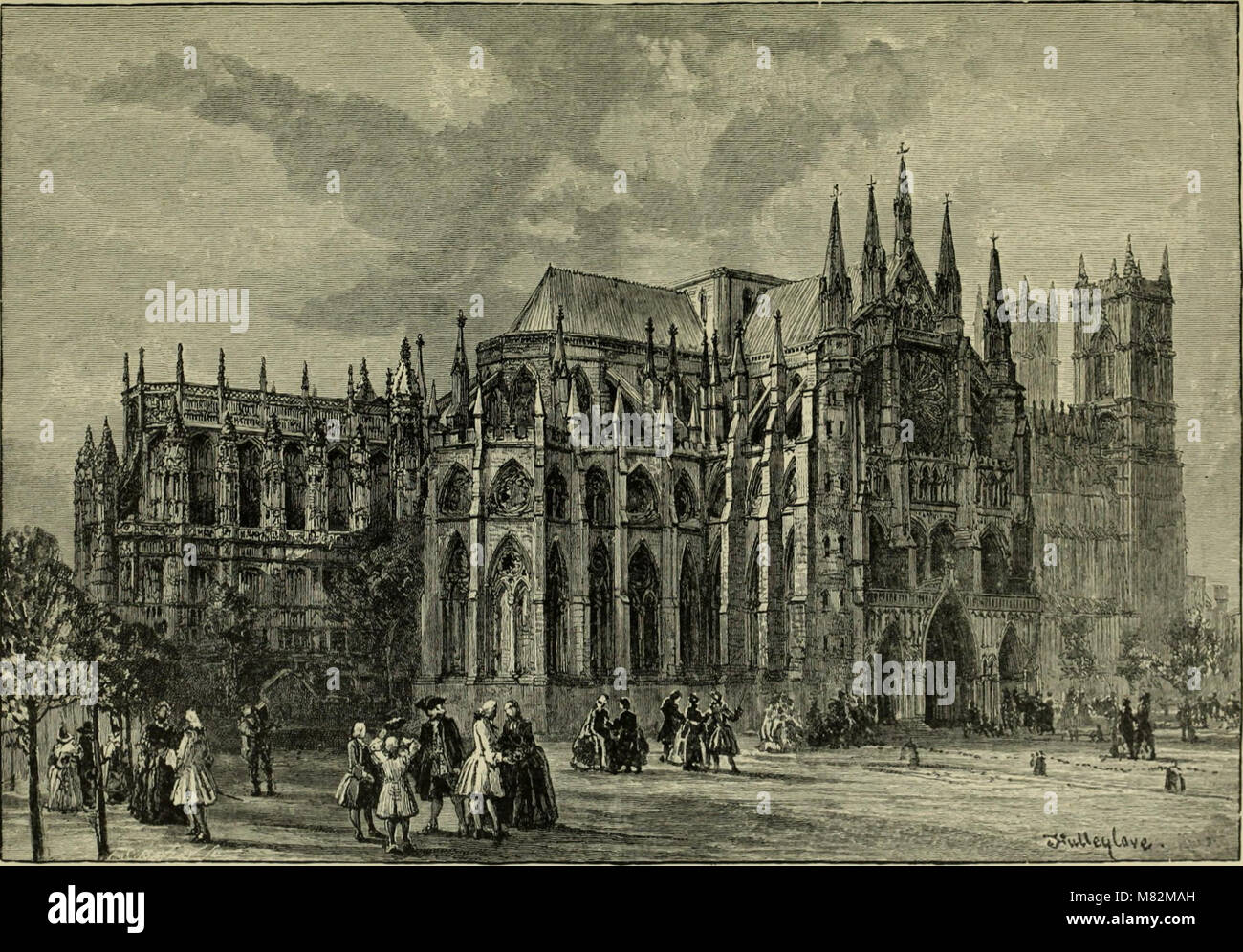 Cathedrals, abbeys and churches of England and Wales, descriptive, historical, pictorial (1896) (14587328447) Stock Photo