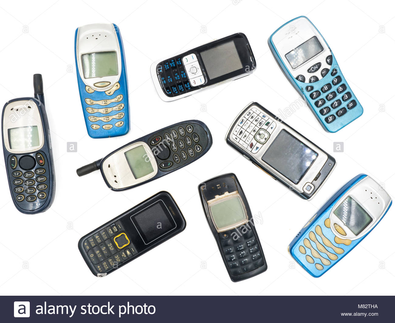 Old Mobile Phones Stock Photos Images Circuit Board From A Nokia 3310 Phone Photo Picture And Top View Of On White Background Image