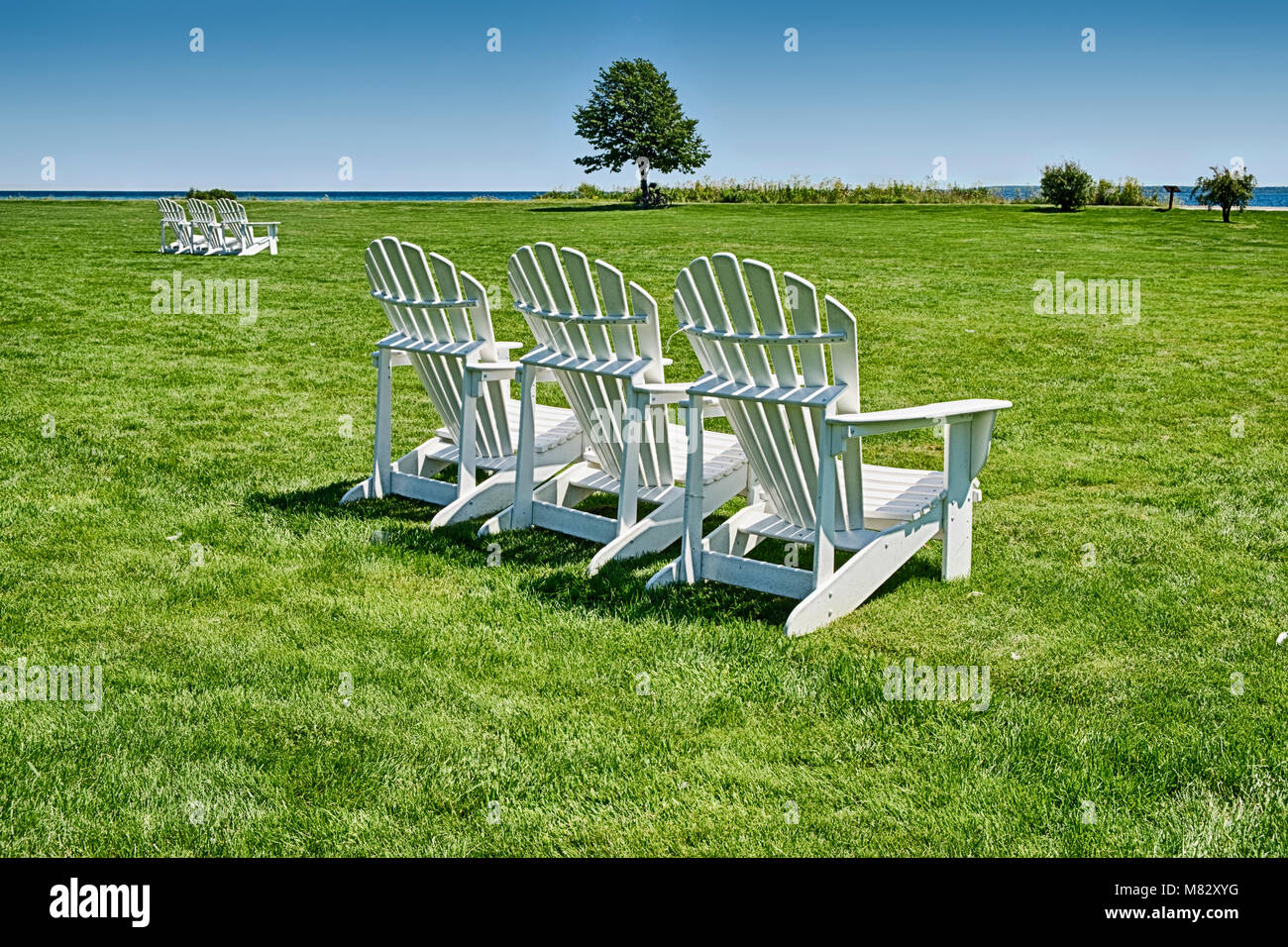 Pleasing Chairs Lake Huron Stock Photos Chairs Lake Huron Stock Bralicious Painted Fabric Chair Ideas Braliciousco