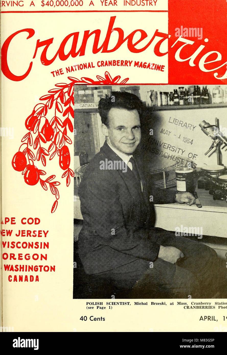 Cranberries; - the national cranberry magazine (1963) (20696388692) Stock Photo