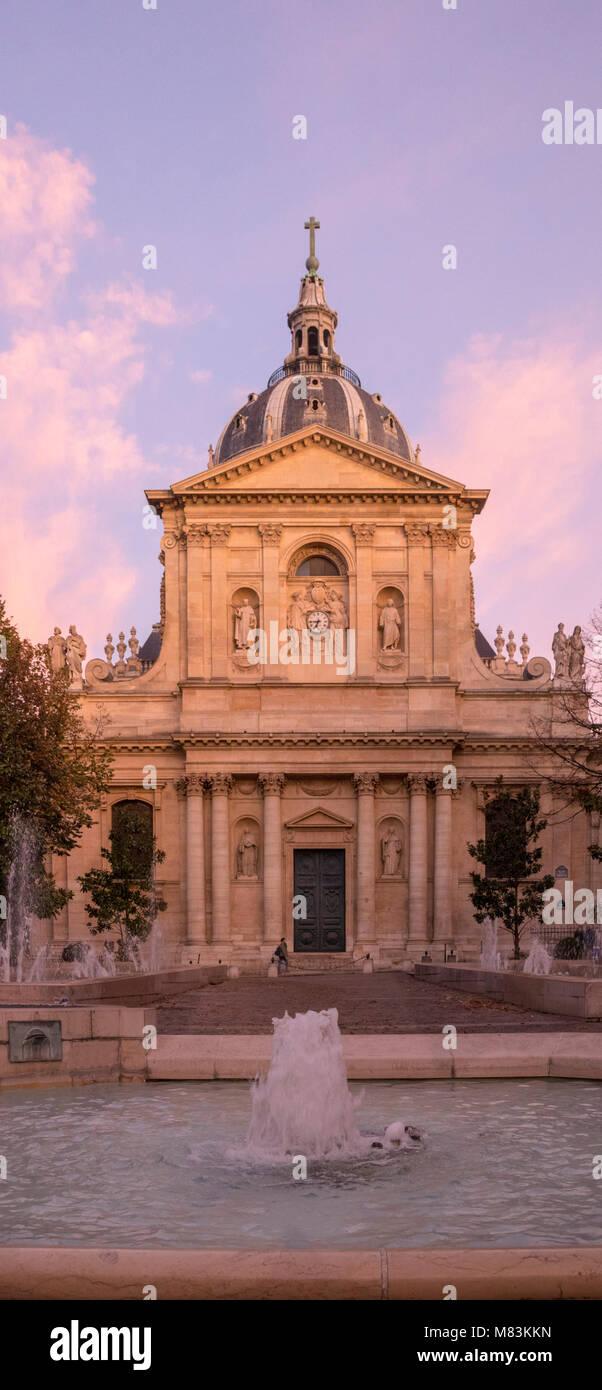 Place de la Sorbonne, Paris, France - Stock Image