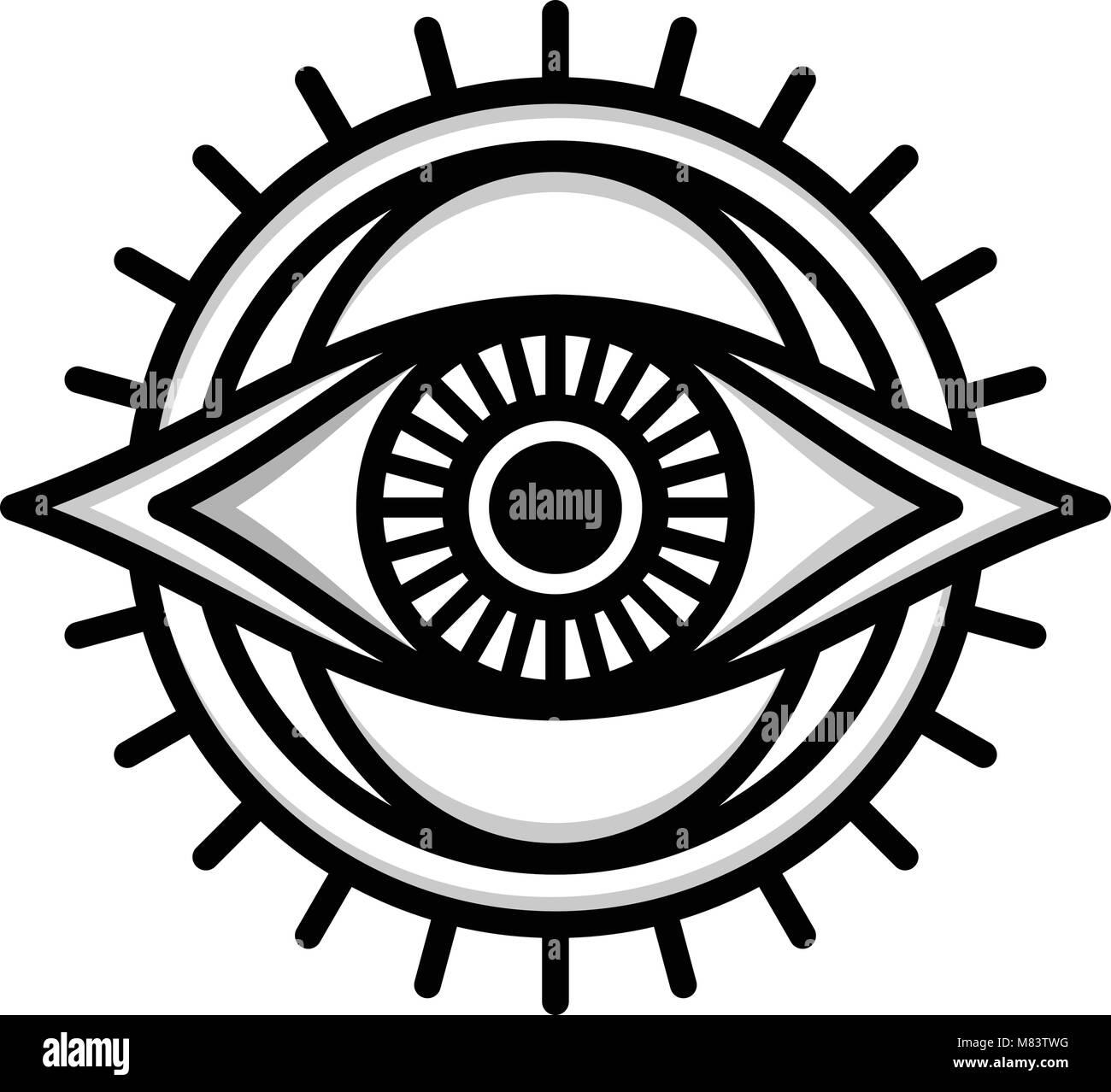 one eye sign symbol logo logotype vector Stock Vector