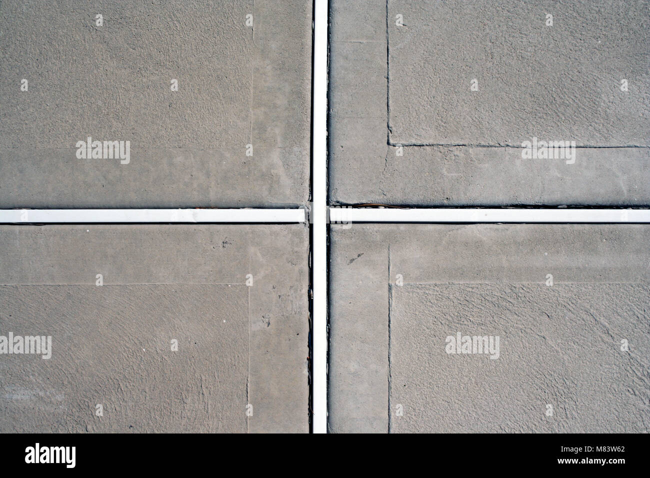 an image of a Concrete pool deck edges - Stock Image