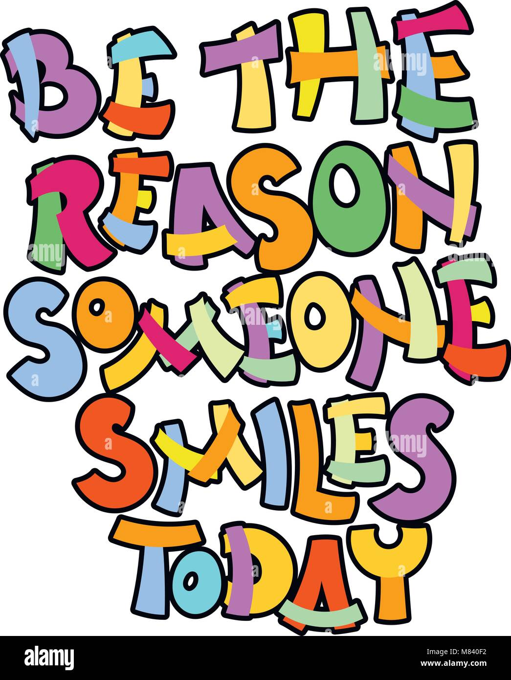 Be The Reason Someone Smiles Today Hand Written Calligraphy Quote
