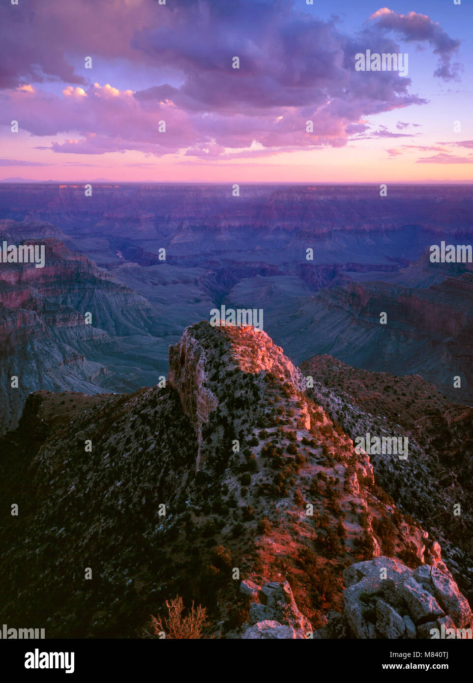 Sunset, Point Sublime, Grand Canyon National Park, Arizona - Stock Image