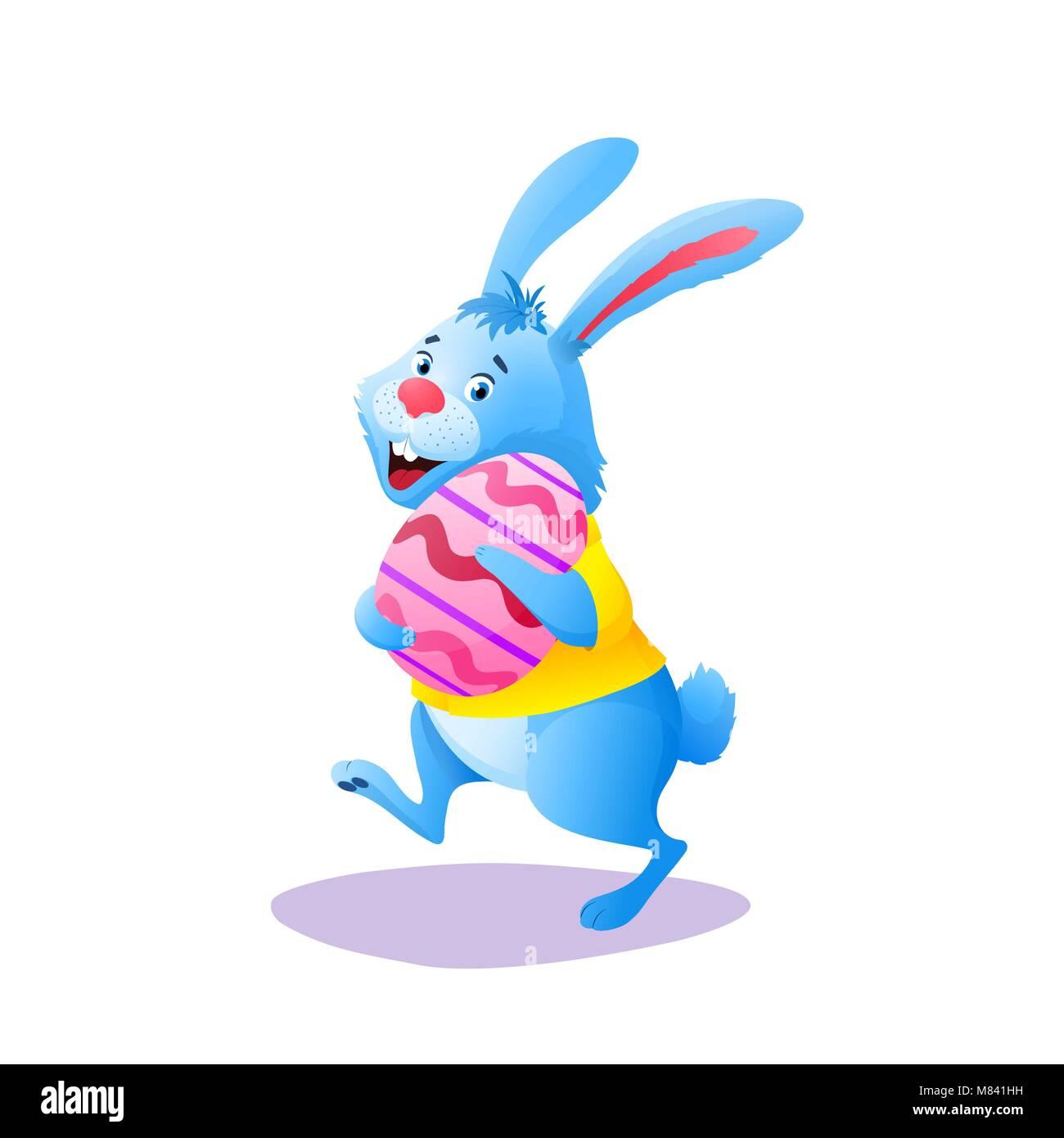 blue rabbit cartoon character