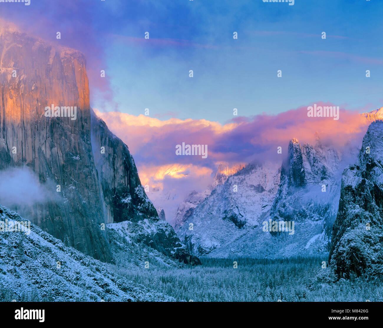 Clearing Storm, El Capitan, Yosemite National Park, California - Stock Image