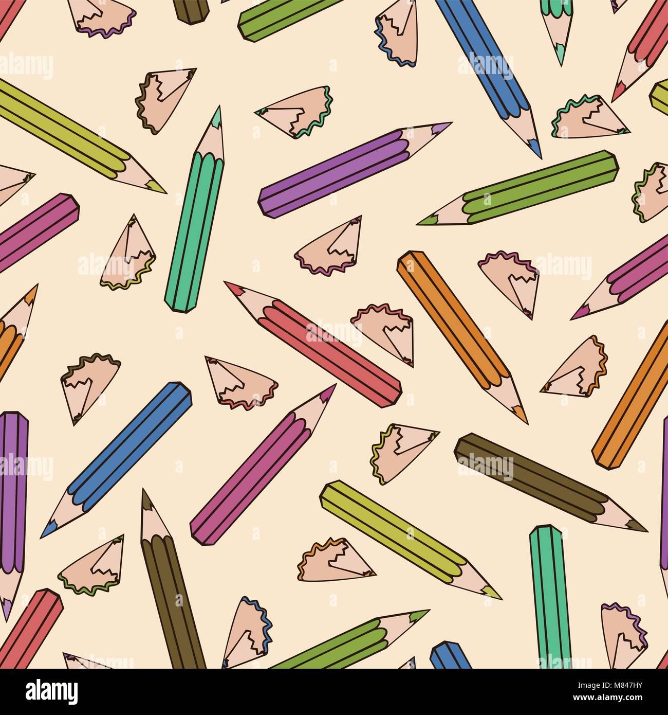 Seamless Pattern Background Pencil School Design Vector Study Stock Vector Image Art Alamy