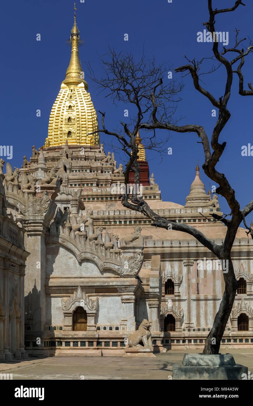 Ananda Pahto Temple, Bagan, Myanmar - Stock Image