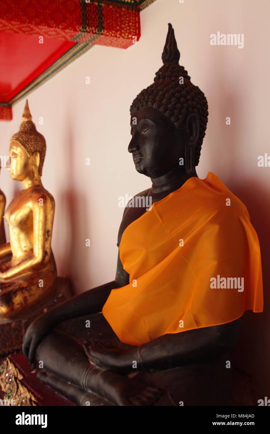 View of Buddha statue in Wat Pho Temple at Bangkok Thailand - Stock Image