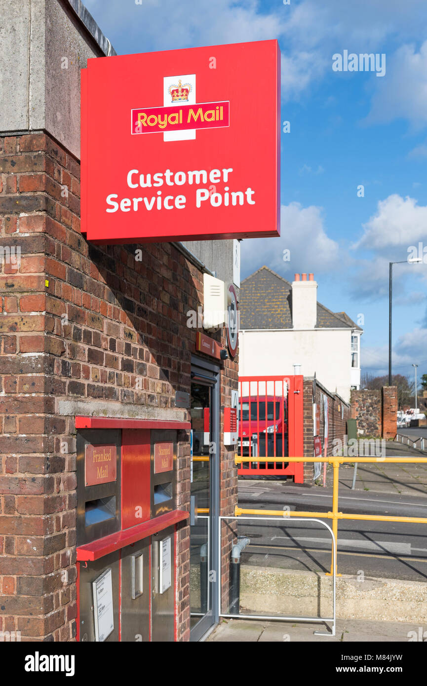 Royal Mail Post Office Customer Service Point and sign in