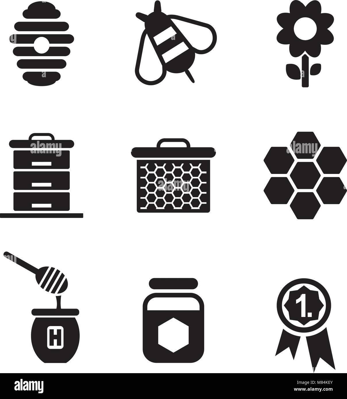 Honey Icons - Stock Vector