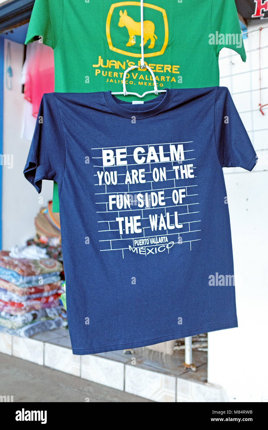 8266ad62 In response to the USA building the wall rhetoric, the t-shirt states '