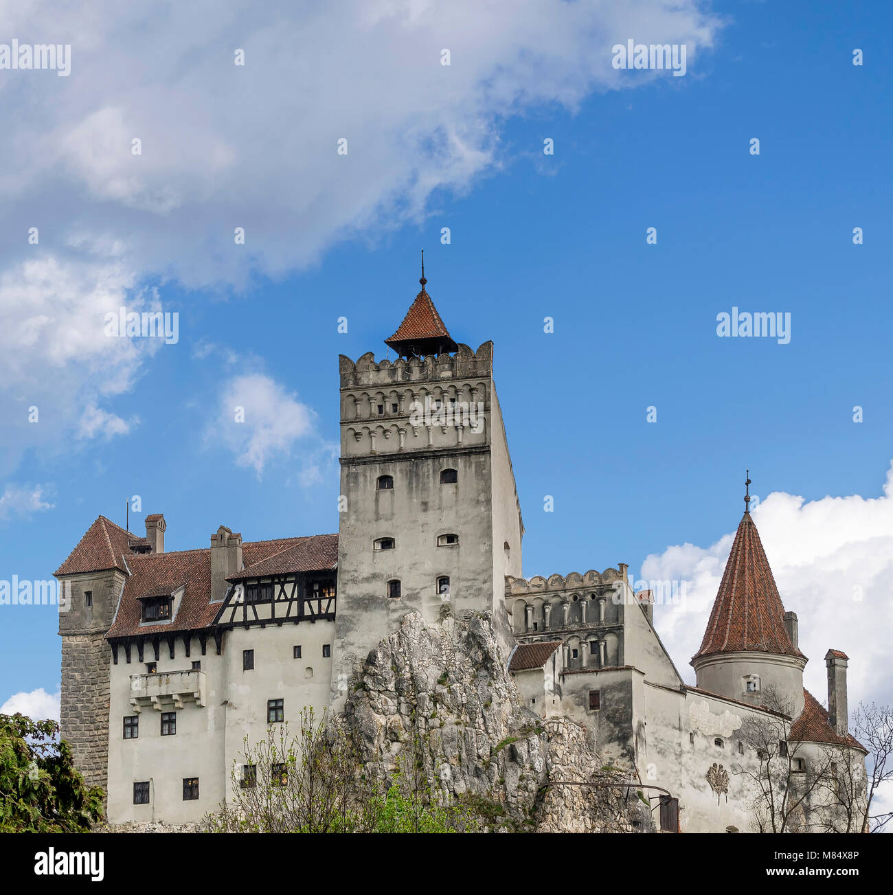 Bran Castle famous for the myth of Dracula, Brasov, Romania - Stock Image