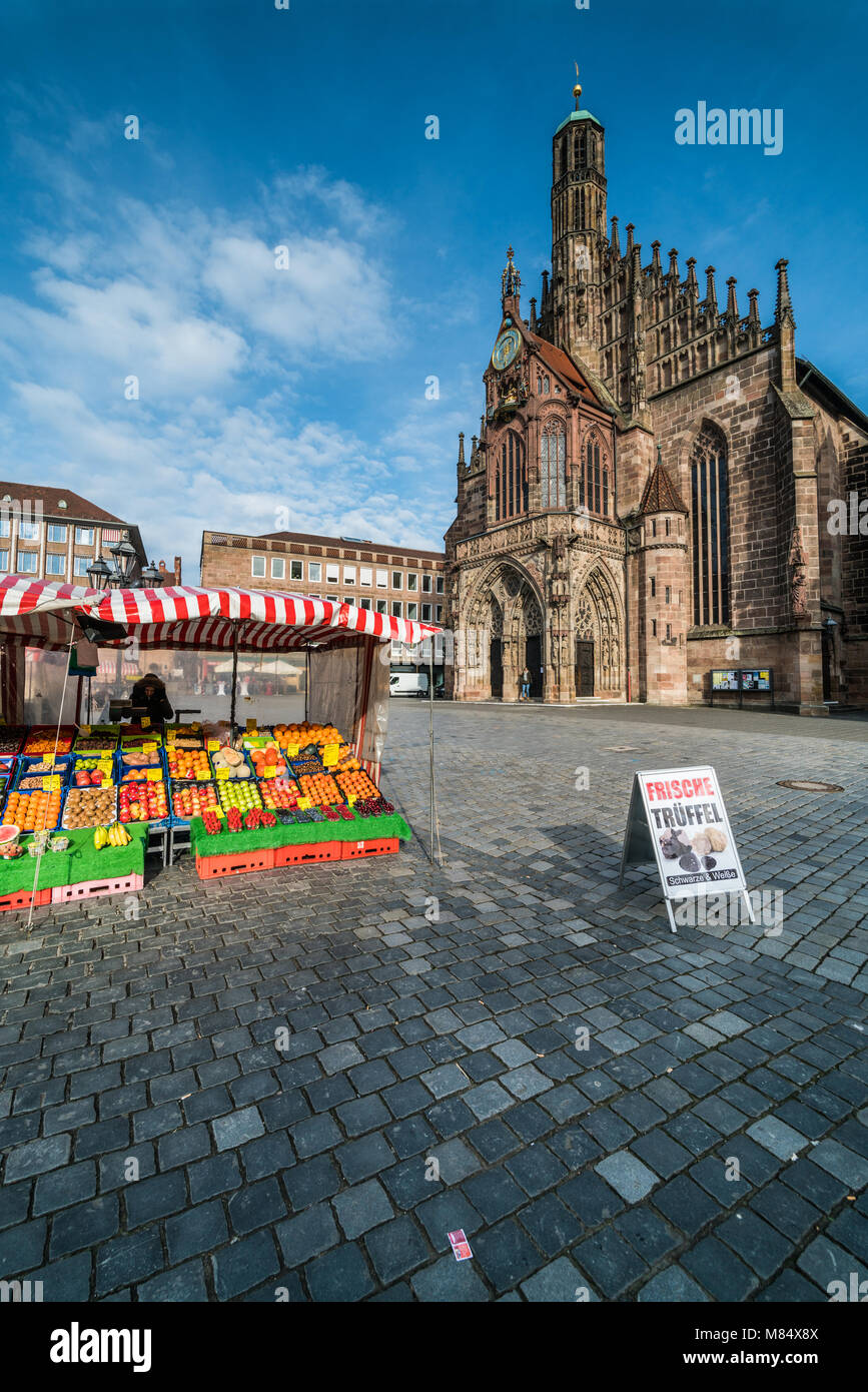 The Frauenkirche (Church of Our Lady), Nuremberg, Germany, Europe. Stock Photo