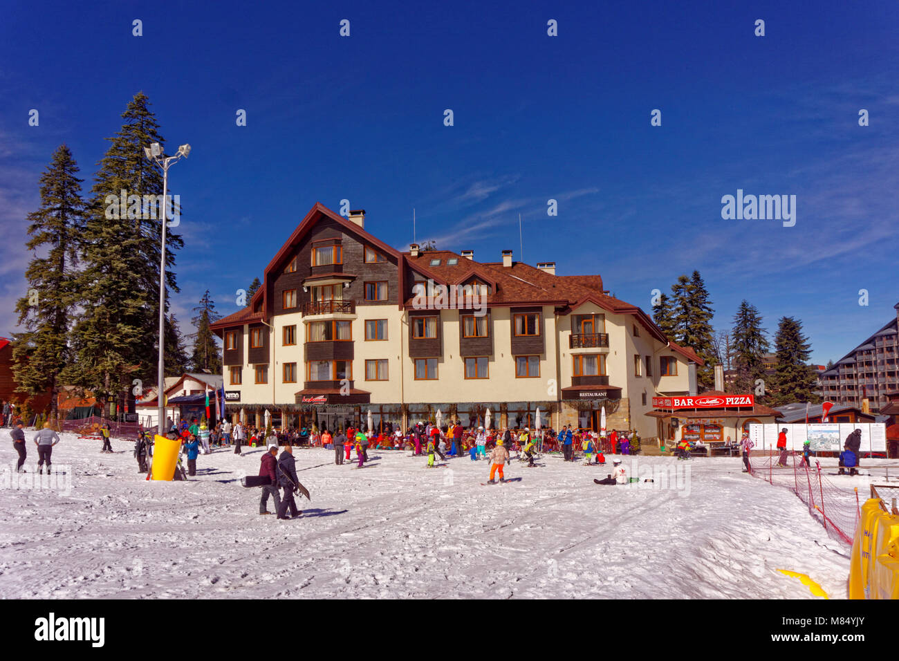 Hotel Ice Angels at Borovets Ski resort, Targovishte, Bulgaria. - Stock Image