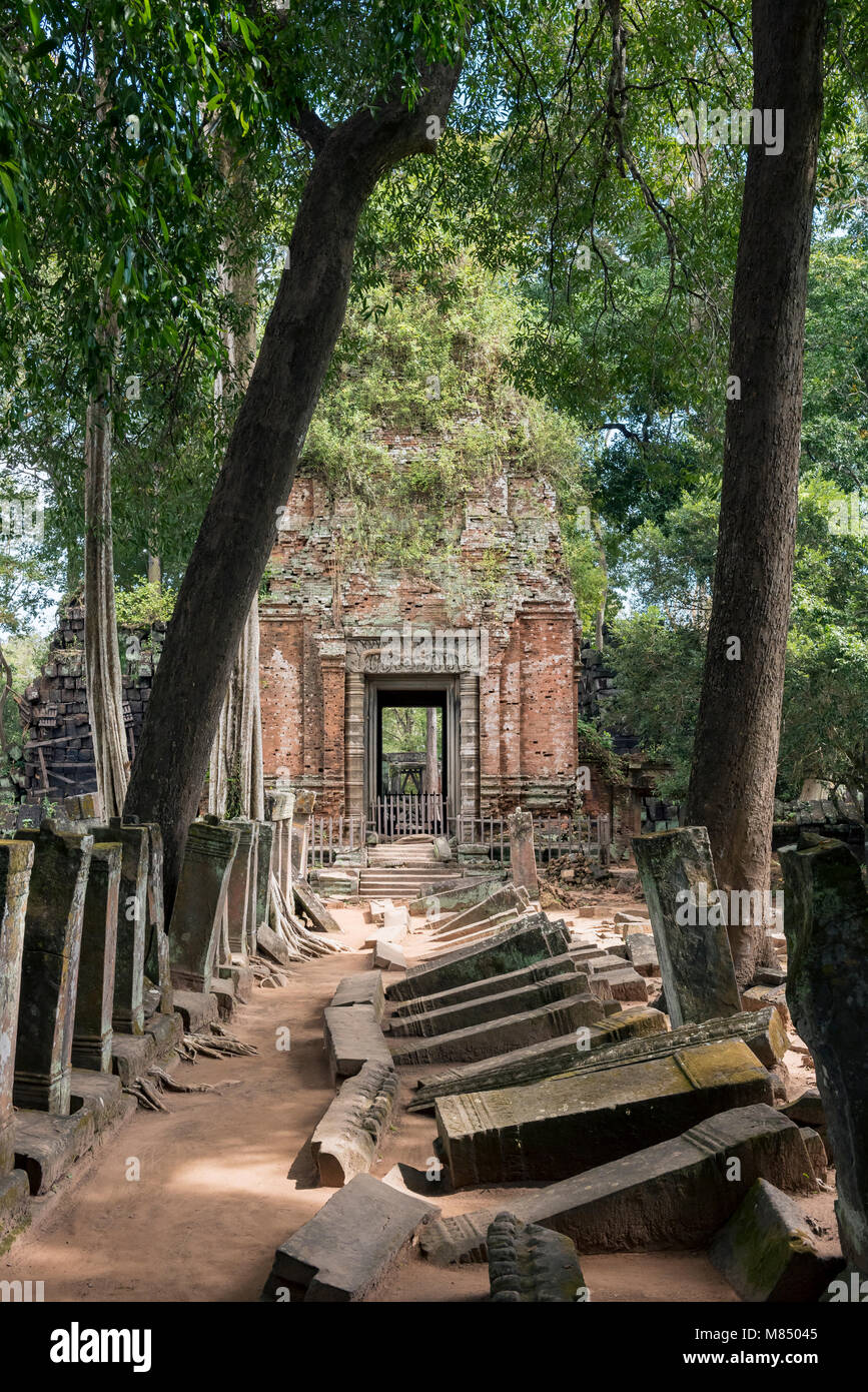 Prasat Krahom at Koh Ker Temple, Cambodia - Stock Image