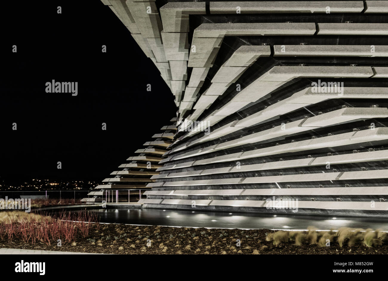 The V&A design museum in Dundee is a signature building by world famous Japanese architect Kengo Kuma. Stock Photo