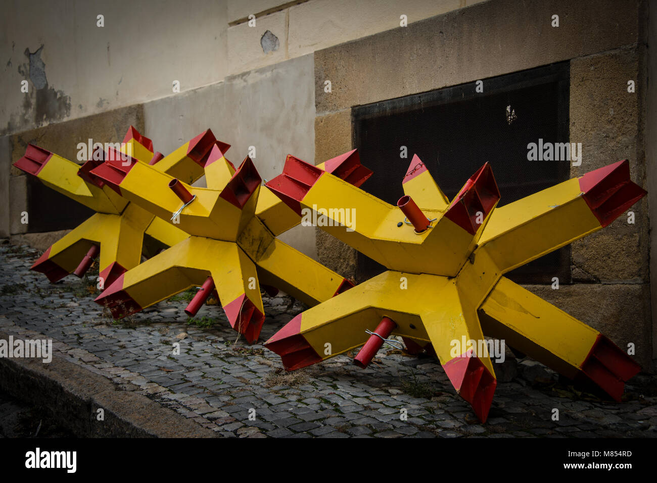Panzersperre Stock Photo