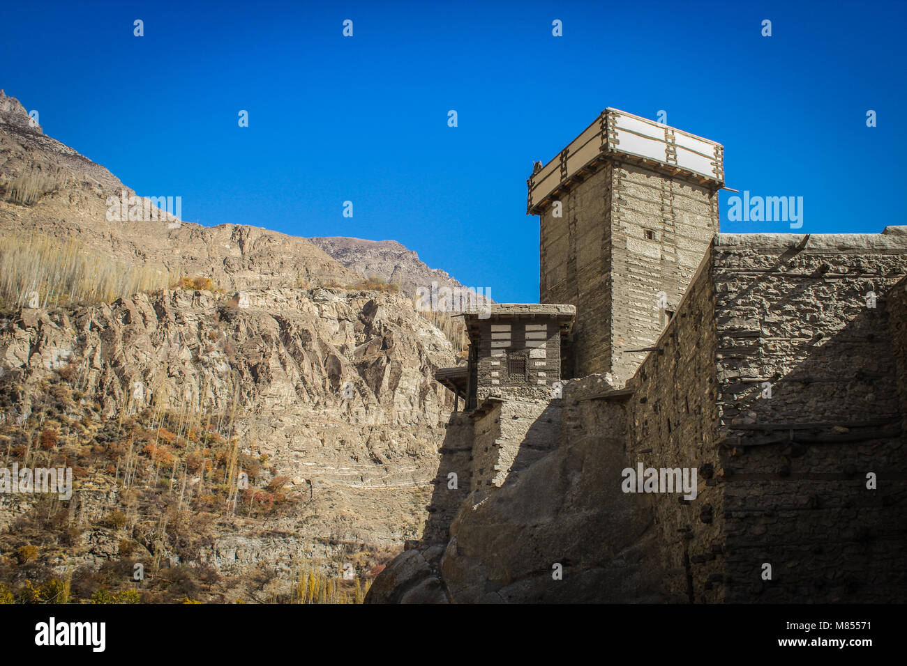 Altit fort, Hunza, North Pakistan in autumn. Around 1100 years old fort. - Stock Image
