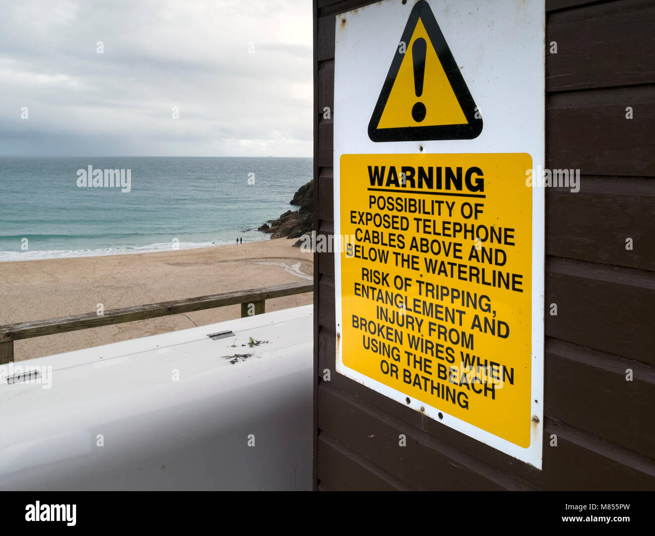 Warning sign about dangers of underwater, underground