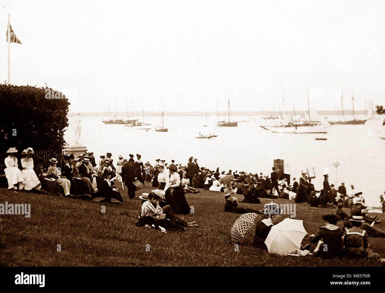 Cowes, Isle of Wight, Victorian period - Stock Image