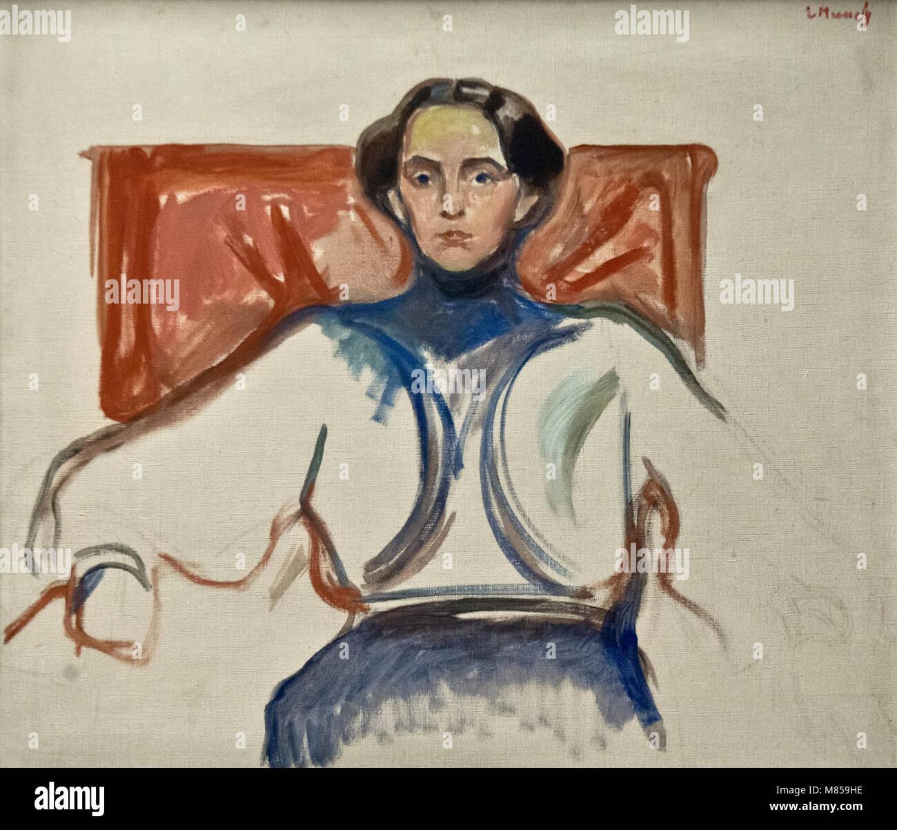 Edvard Munch: Mrs. Schwarz (1906) - Stock Image