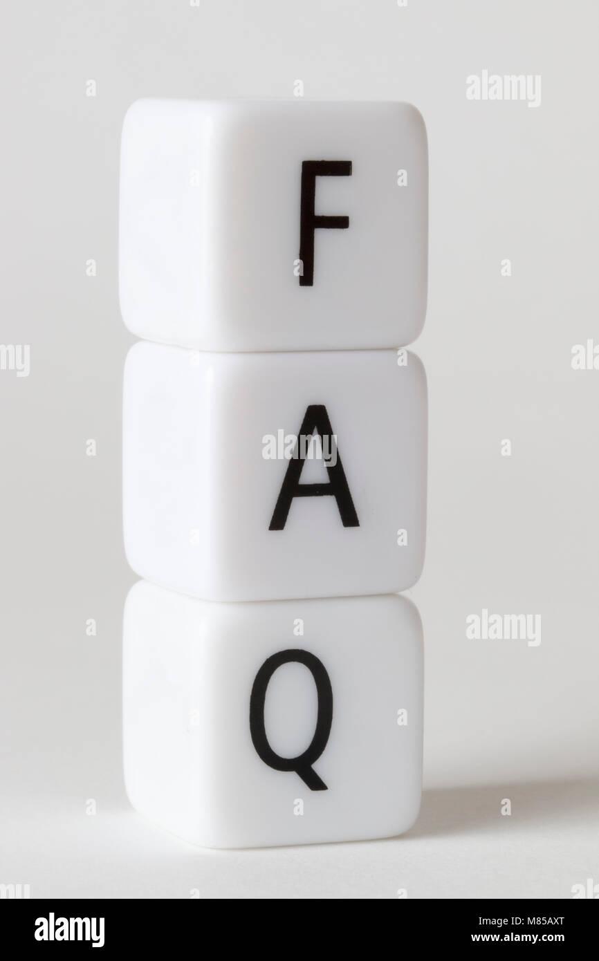 FAQ - Stock Image