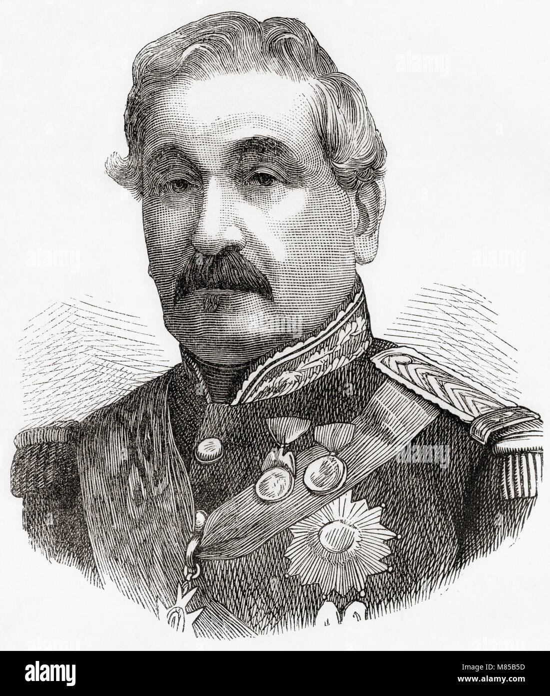 Charles Guillaume Marie Appollinaire Antoine Cousin-Montauban, 1er Comte de Palikao, 1796–1878.  French general - Stock Image