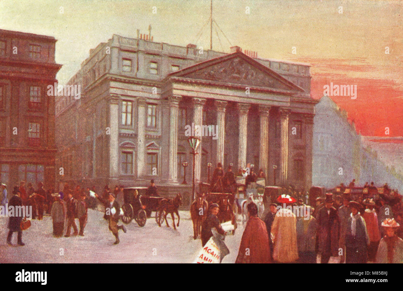 Mansion House, London, England, circa 1905, official residence of the Lord Mayor of London - Stock Image