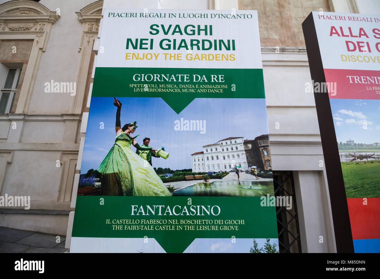 Tourist attractions in La Reggia di Venaria Reale, Italy - Stock Image