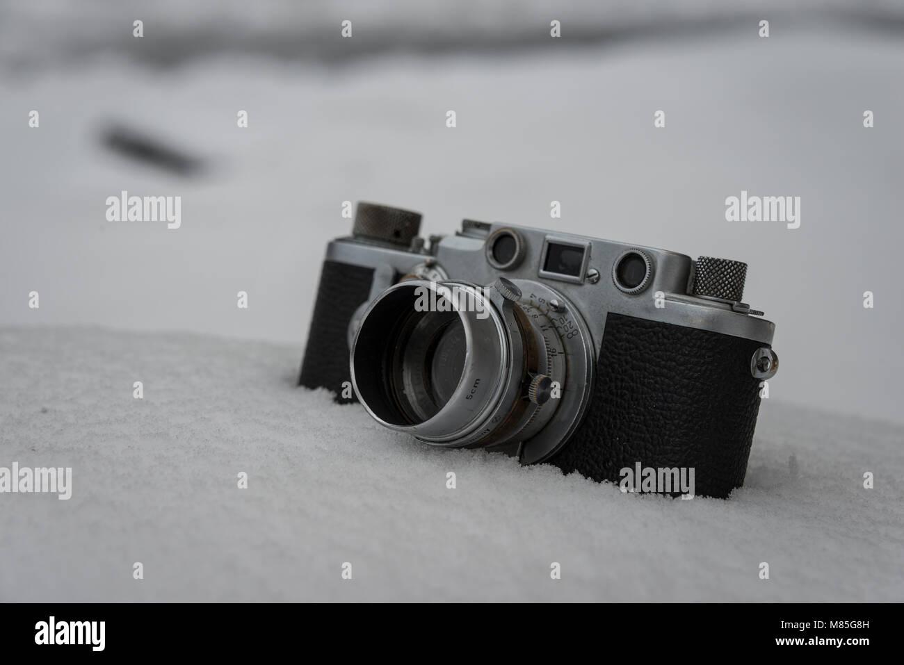 Alte Deutsche Analogkamera Stock Photo