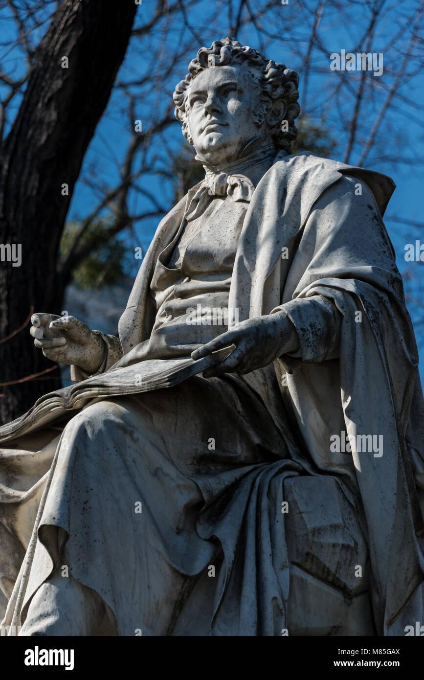 Schubert-Denkmal im Wiener Stadtpark - Stock Image