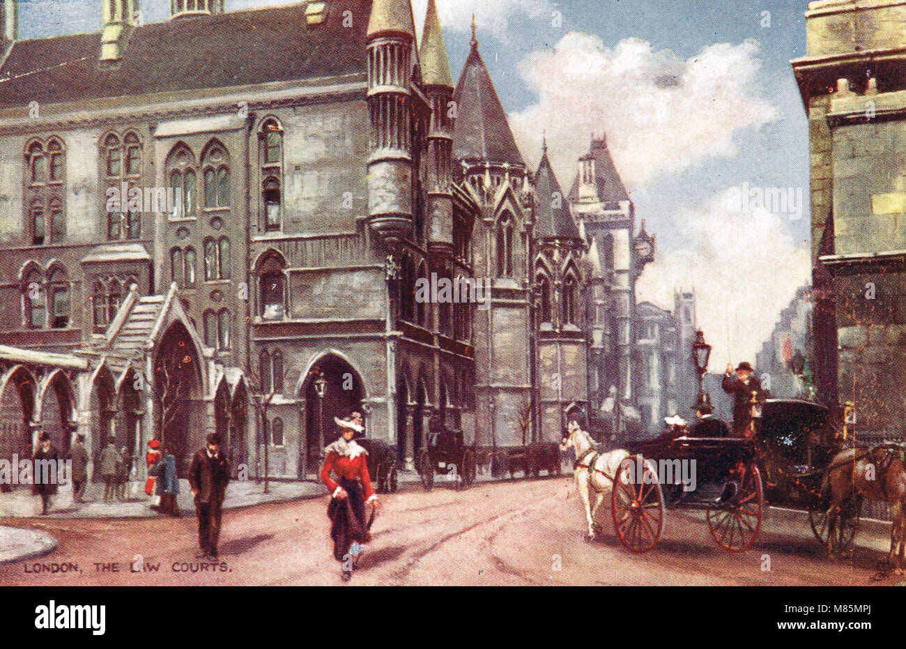 Royal Courts of Justice, London, England, circa 1905 Stock Photo