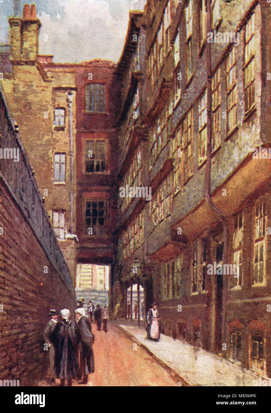 Middle Temple Lane, London, England, circa 1905 - Stock Image