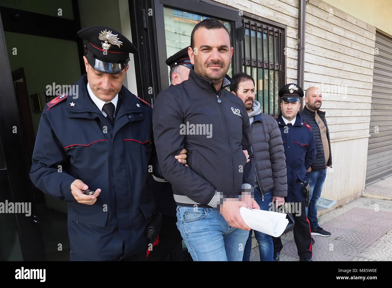 Corigliano Calabro, a vast operation of the carabinieri of the provincial command of Cosenza, led to the arrest Stock Photo