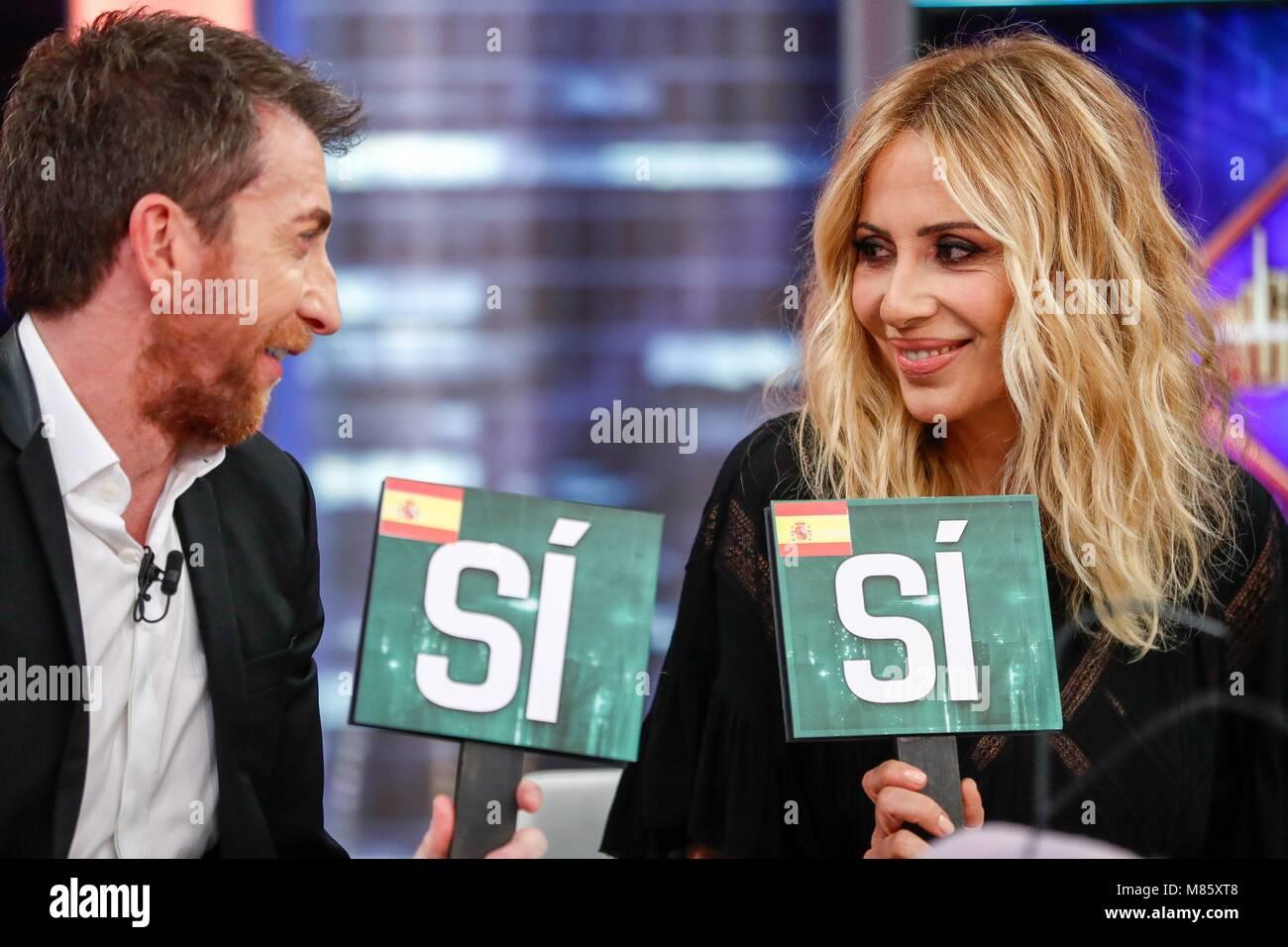 Marta Sanchez during the spanish TV Show, El Hormiguero