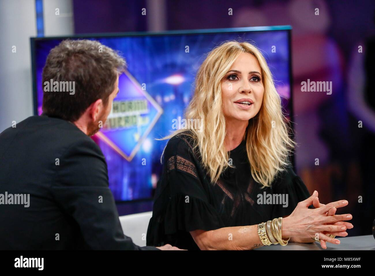 Marta Sanchez during the spanish TV Show, El Hormiguero